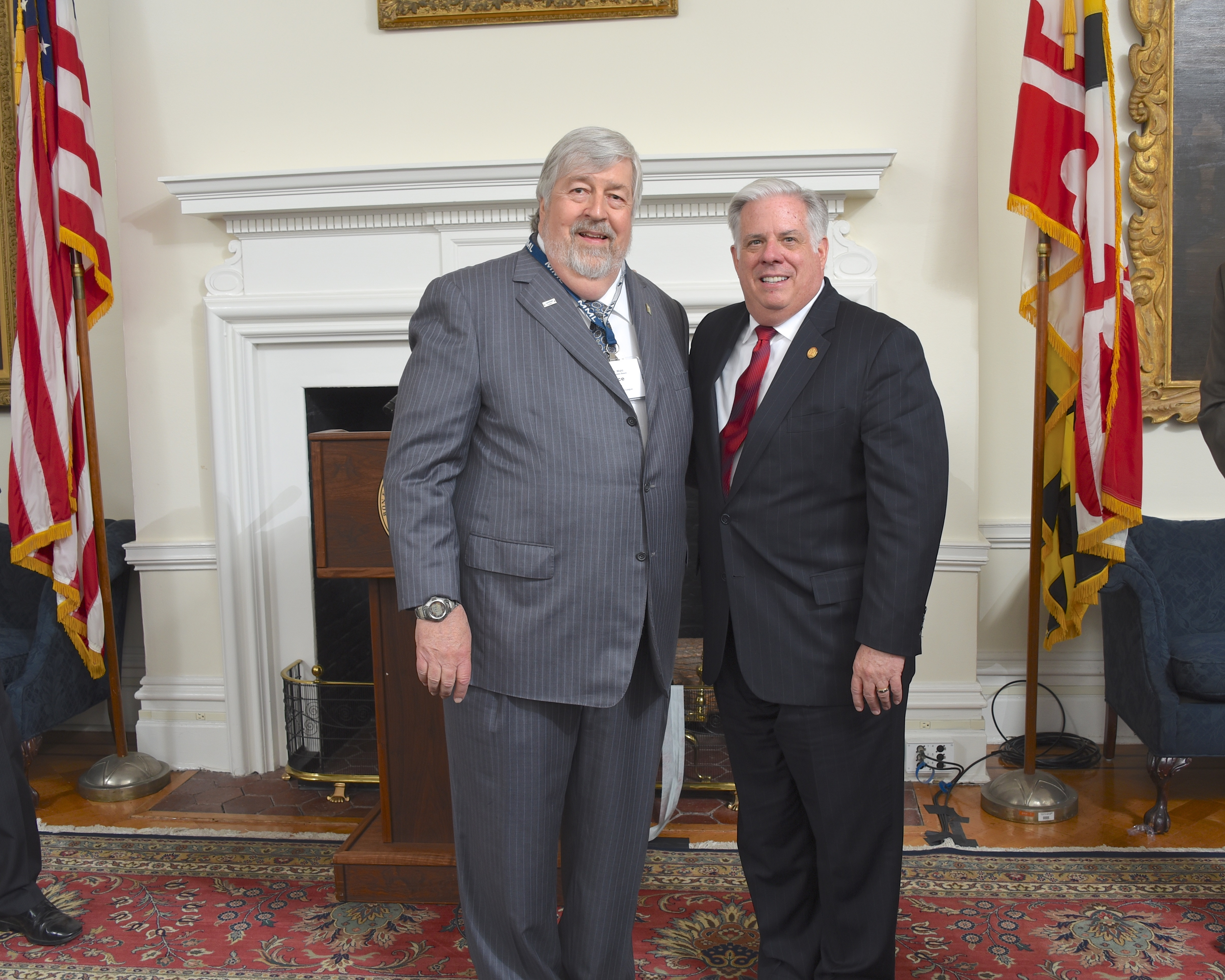 President Wahl and Governor Hogan
