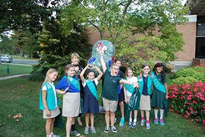 Bel Air Mayor with Girl Scouts