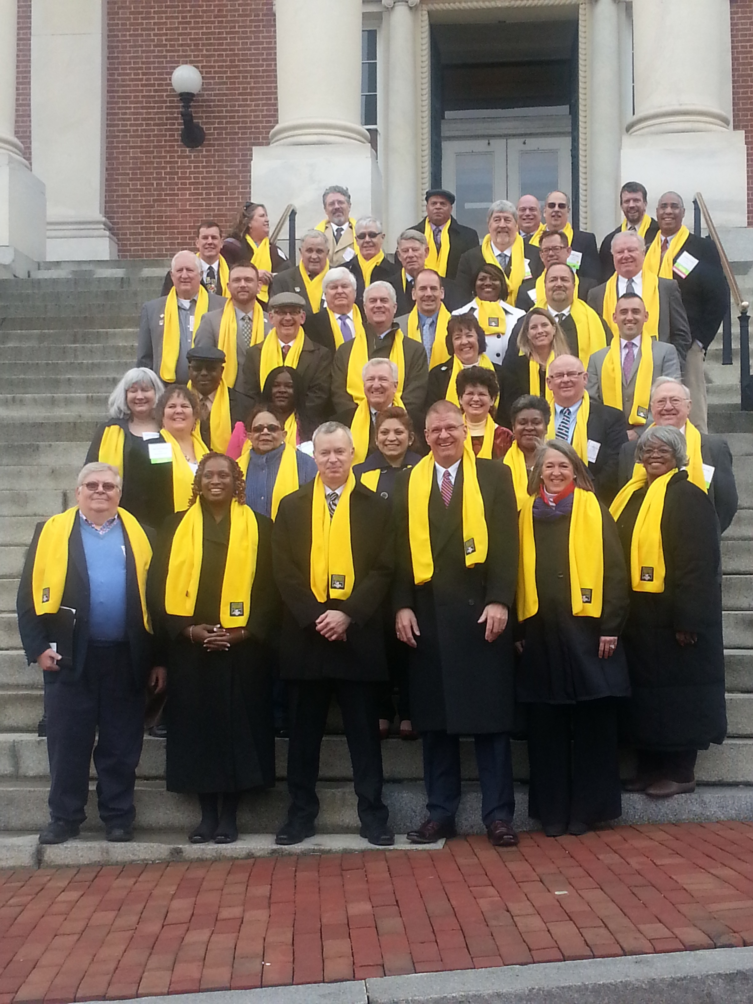 Marylands Mayors on the Annapolis Capital Steps